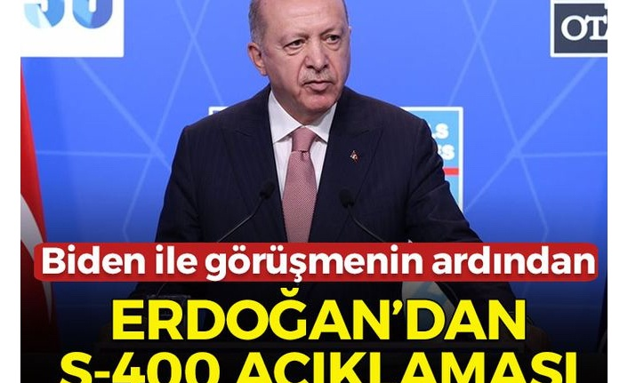 Son dakika: Cumhurbaşkanı Erdoğan'dan flaş S-400 açıklaması