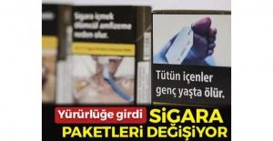 Sigara paketleri değişiyor! Resmi...